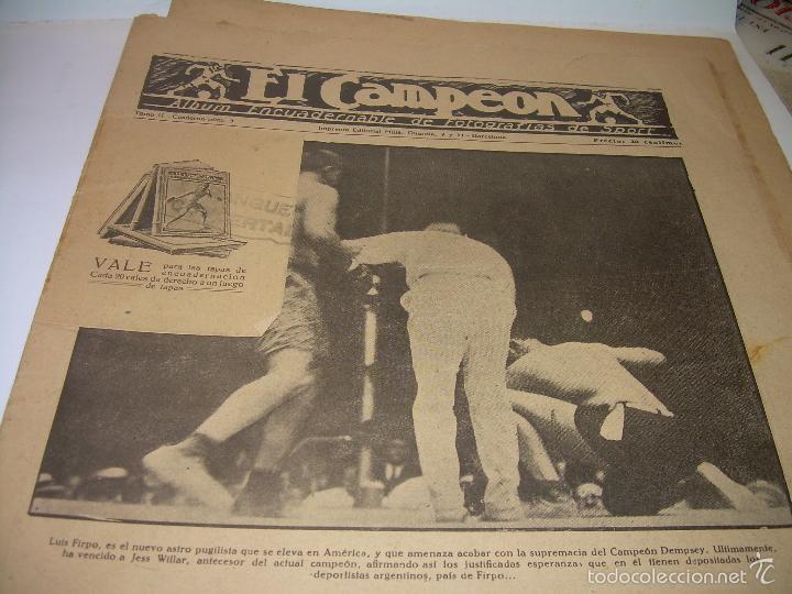 Coleccionismo deportivo: ONCE REVISTAS....DE..EL CAMPEON. - Foto 11 - 56857642
