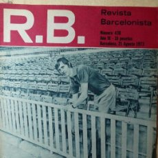 Coleccionismo deportivo: JOHAN CRUYFF EN PORTADA DE R.B. REVISTA BARCELONISTA.21 AGOSTO DE 1973 F.C.BARCELONA. Lote 90929608