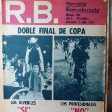 Coleccionismo deportivo: R.B. REVISTA BARCELONISTA N.483 -2 JULIO DE 1974. Lote 56928505