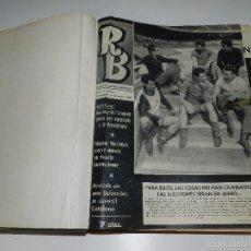 Coleccionismo deportivo: (M) REVISTA RB AÑO I NUM 2 AL NUM 39 , FALTAN EL NUMERO 1 Y EL NUM 19, AÑO ENCUADERNADDO. Lote 57023885