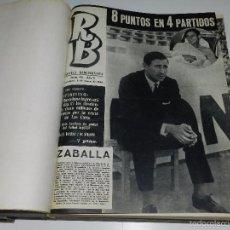 Coleccionismo deportivo: (M) REVISTA RB AÑO II NUM 40 AL NUM 91 , FALTAN LOS NUMEROS 45-67-84, AÑO ENCUADERNADO. Lote 57023920