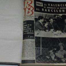 Coleccionismo deportivo: (M) REVISTA RB AÑO III DEL NUMERO 92 AL NUM 143, EL NUMERO 127 LE FALTA UN ESQUINA EN UNA HOJA. Lote 57023953