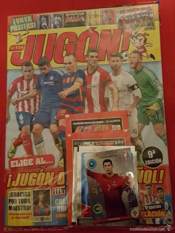 REVISTA JUGON 114 SIN ABRIR (PRECINTADA) (Coleccionismo Deportivo - Revistas y Periódicos - otros Fútbol)