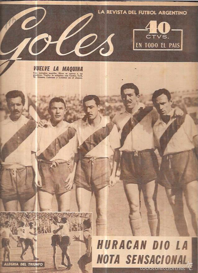 GOLES. LA REVISTA DEL FUTBOL ARGENTINO. AÑO II. Nº116. AGOSTO DE 1950. (Coleccionismo Deportivo - Revistas y Periódicos - otros Fútbol)