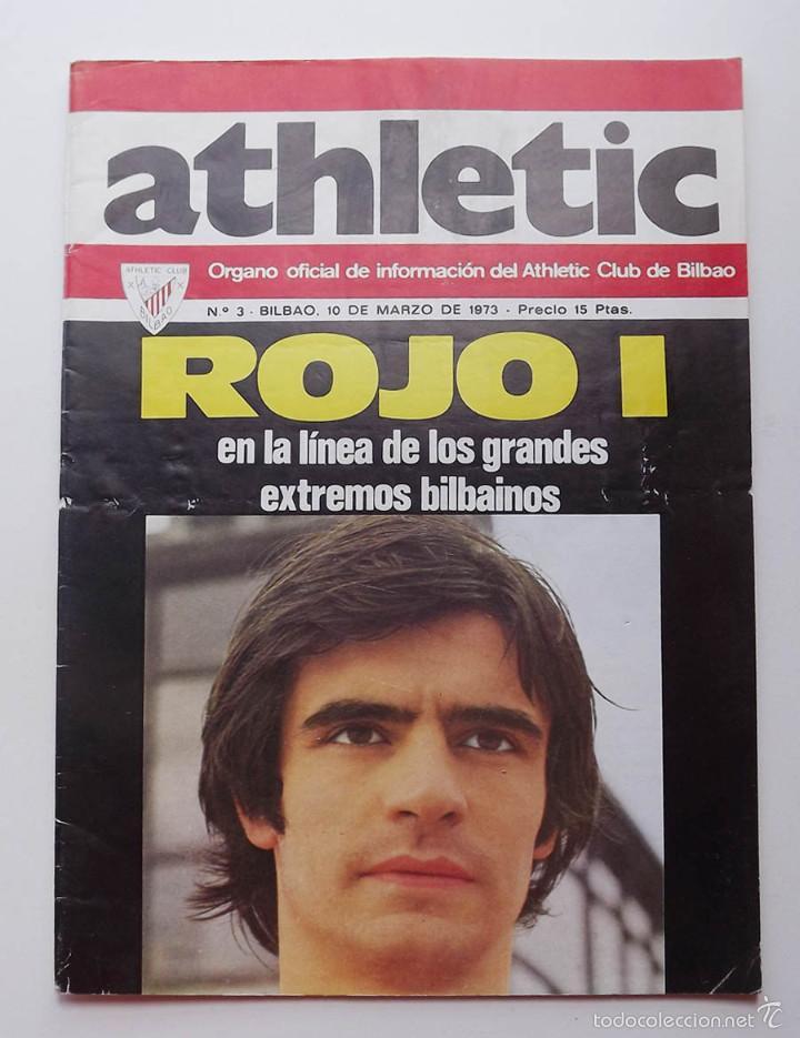 ATHLETIC DE BILBAO, REVISTA OFICIAL NÚMERO 3, ROJO I, 1973 (Coleccionismo Deportivo - Revistas y Periódicos - otros Fútbol)