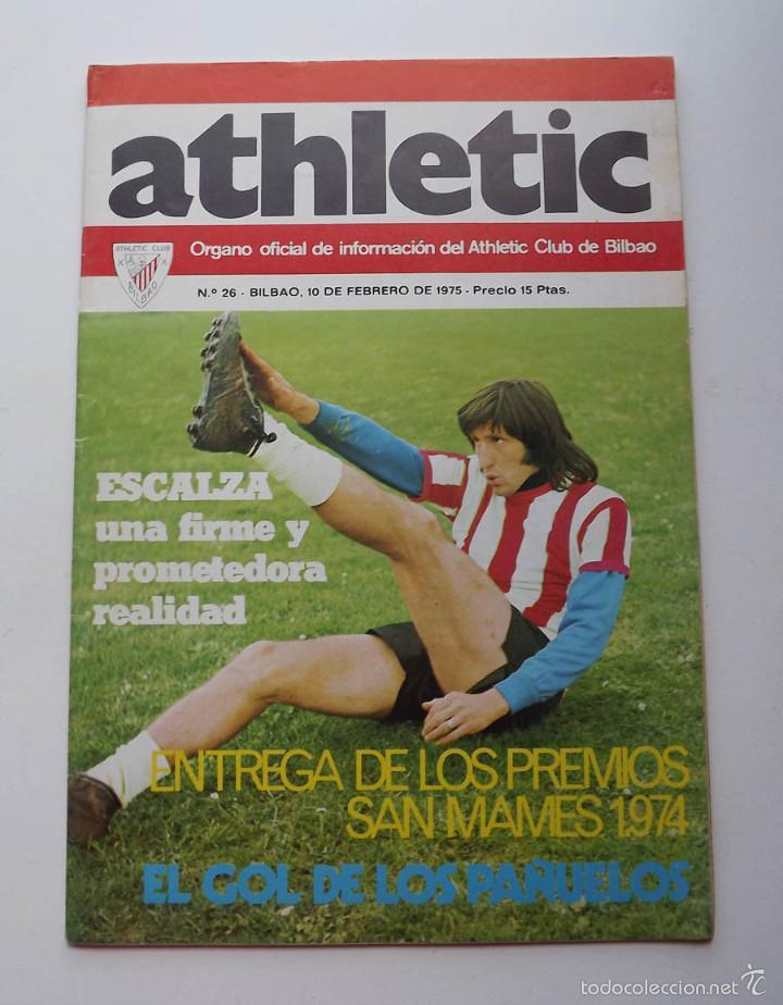 ATHLETIC DE BILBAO, REVISTA OFICIAL NÚMERO 26, ESCALZA, 1975 (Coleccionismo Deportivo - Revistas y Periódicos - otros Fútbol)