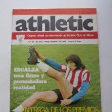 Coleccionismo deportivo: ATHLETIC DE BILBAO, REVISTA OFICIAL NÚMERO 26, ESCALZA, 1975. Lote 57162620