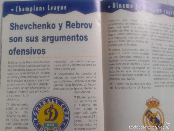 Coleccionismo deportivo: COLD - PROGRAMA OFICIAL MIERCOLES 6 DE ENERO 1999 **REAL MADRID C.F. - U.D.SALAMANCA - Foto 8 - 43236042