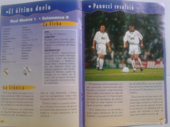 Coleccionismo deportivo: COLD - PROGRAMA OFICIAL MIERCOLES 6 DE ENERO 1999 **REAL MADRID C.F. - U.D.SALAMANCA - Foto 11 - 43236042