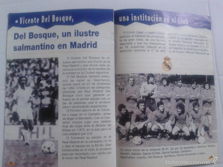 Coleccionismo deportivo: COLD - PROGRAMA OFICIAL MIERCOLES 6 DE ENERO 1999 **REAL MADRID C.F. - U.D.SALAMANCA - Foto 12 - 43236042