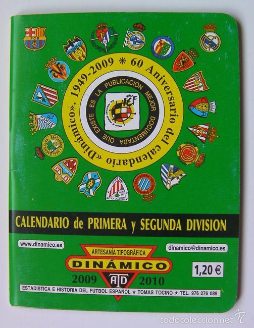 FÚTBOL CALENDARIO DE PRIMERA Y SEGUNDA DIVISIÓN 2009-2010, 65 PAGINAS (Coleccionismo Deportivo - Revistas y Periódicos - otros Fútbol)