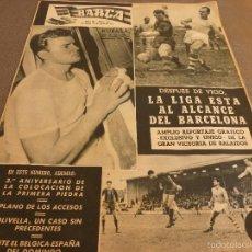 Coleccionismo deportivo: REVISTA BARÇA Nº:67(28-3-57)CELTA VIGO 0 BARÇA 2,EL CAMP NOU,OLIVELLA-FOTOS. Lote 57450065