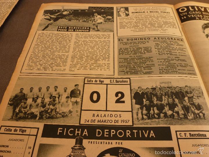 Coleccionismo deportivo: REVISTA BARÇA Nº:67(28-3-57)CELTA VIGO 0 BARÇA 2,EL CAMP NOU,OLIVELLA-FOTOS - Foto 4 - 57450065