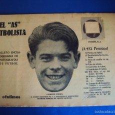 Coleccionismo deportivo: (F-1615)EL AS FUTBOLISTA, Nº3 , VICENTE PIERA , F.C.BARCELONA. Lote 57486843