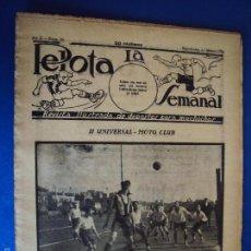 Coleccionismo deportivo: (F-1620)PELOTA LA SEMANAL , Nº 16 , 1 MARZO 1923. Lote 57490516