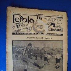 Coleccionismo deportivo: (F-1622)PELOTA LA SEMANAL , Nº10 , 18 ENERO 1923. Lote 57490580