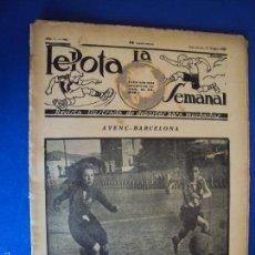Coleccionismo deportivo: (F-1623)PELOTA LA SEMANAL , Nº 9 , 11 ENERO 1923. Lote 57490631