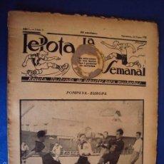 Coleccionismo deportivo: (F-1627)PELOTA LA SEMANAL , Nº 11 , 25 ENERO 1923. Lote 57490825