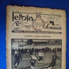 Coleccionismo deportivo: (F-1628)PELOTA LA SEMANAL , Nº 8 , 4 ENERO 1923. Lote 57490876