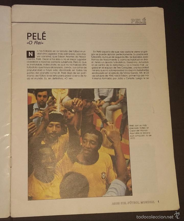 Coleccionismo deportivo: ASES DEL FÚTBOL MUNDIAL - FASCÍCULO Nº 1 - UNIVERSO EDITORIAL, S.A.- 1992 PORTADA PELÉ - Foto 2 - 57517373