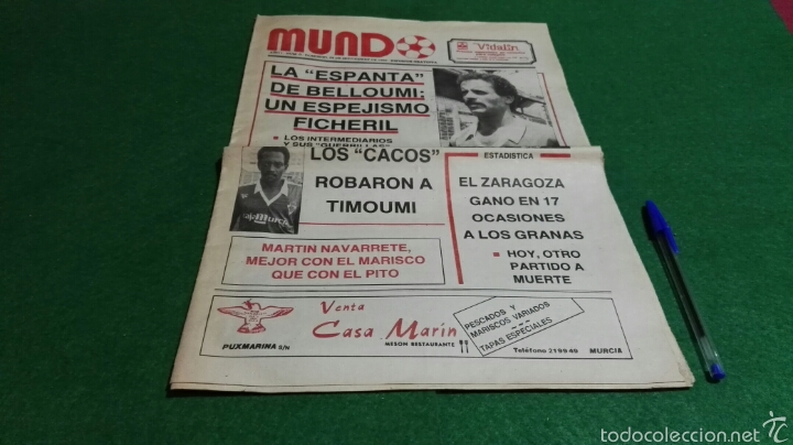 PERIODICO MUNDO AÑO I NUM. 0 1986 REAL MURCIA . (Coleccionismo Deportivo - Revistas y Periódicos - otros Fútbol)
