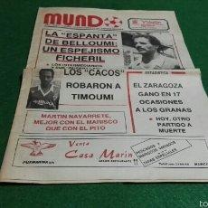 Coleccionismo deportivo: PERIODICO MUNDO AÑO I NUM. 0 1986 REAL MURCIA . . Lote 57682910