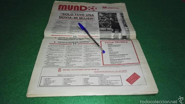 Coleccionismo deportivo: Periodico mundo año I num. 0 1986 Real Murcia . - Foto 3 - 57682910