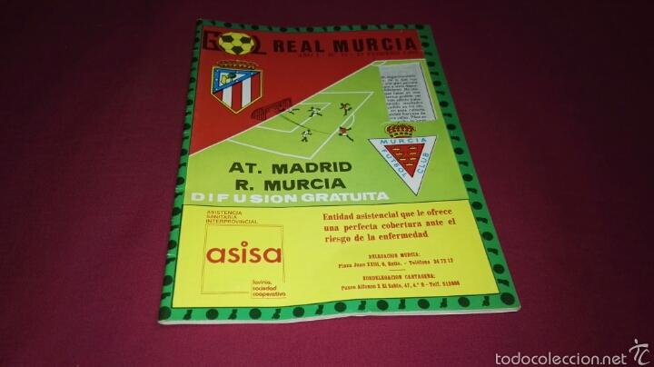 PROGRAMA GOL PARTIDO REAL MURCIA - AT. DE MADRID TEMPORADA 1981 (Coleccionismo Deportivo - Revistas y Periódicos - otros Fútbol)