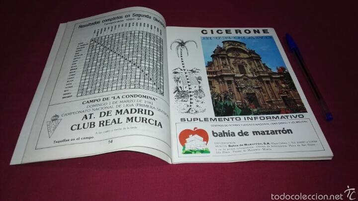 Coleccionismo deportivo: Programa Gol partido Real Murcia - At. de Madrid temporada 1981 - Foto 5 - 57683170