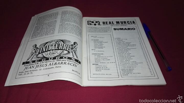 Coleccionismo deportivo: Programa Gol partido Real Murcia - At. de Madrid temporada 1981 - Foto 6 - 57683170