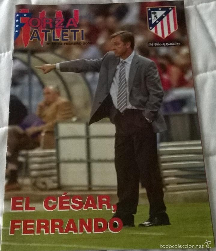 REVISTA FORZA ATLETI Nº12 - 13 FEBRERO 2005 - ATLÉTICO DE MADRID CESAR FERRANDO (Coleccionismo Deportivo - Revistas y Periódicos - otros Fútbol)