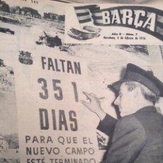 Coleccionismo deportivo: COLECCIÓN REVISTA BARÇA, DOS TOMOS CON 95 REVISTAS, DEL AÑO 1955 AL 1958. Lote 57857419