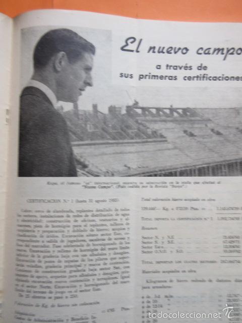 Coleccionismo deportivo: BOLETIN CLUB DE FUTBOL BARCELONA AÑO 1956 Nº 15 - FOTOS NOU CAMP - Foto 2 - 58066193