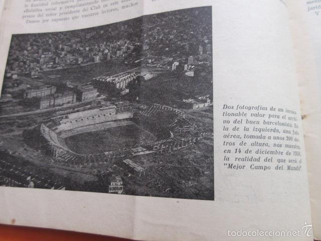 Coleccionismo deportivo: BOLETIN CLUB DE FUTBOL BARCELONA AÑO 1956 Nº 15 - FOTOS NOU CAMP - Foto 3 - 58066193