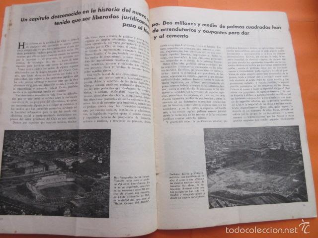 Coleccionismo deportivo: BOLETIN CLUB DE FUTBOL BARCELONA AÑO 1956 Nº 15 - FOTOS NOU CAMP - Foto 5 - 58066193