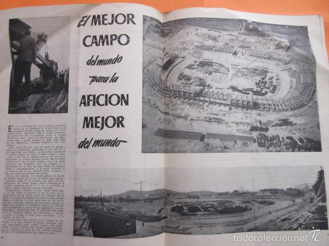 Coleccionismo deportivo: BOLETIN CLUB DE FUTBOL BARCELONA AÑO 1956 Nº 15 - FOTOS NOU CAMP - Foto 7 - 58066193