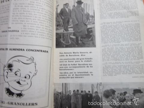 Coleccionismo deportivo: BOLETIN CLUB DE FUTBOL BARCELONA AÑO 1956 Nº 15 - FOTOS NOU CAMP - Foto 8 - 58066193