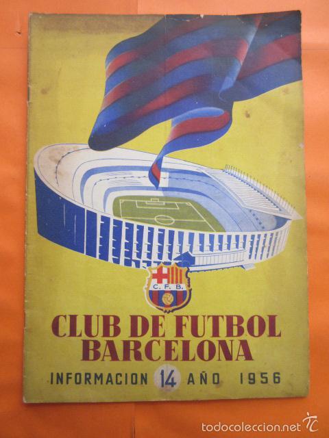 BOLETIN CLUB DE FUTBOL BARCELONA AÑO 1956 Nº 14 - FOTOS NOU CAMP (Coleccionismo Deportivo - Revistas y Periódicos - otros Fútbol)