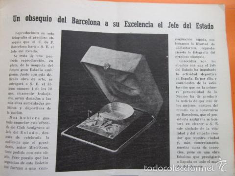 Coleccionismo deportivo: BOLETIN CLUB DE FUTBOL BARCELONA AÑO 1956 Nº 14 - FOTOS NOU CAMP - Foto 3 - 58066202