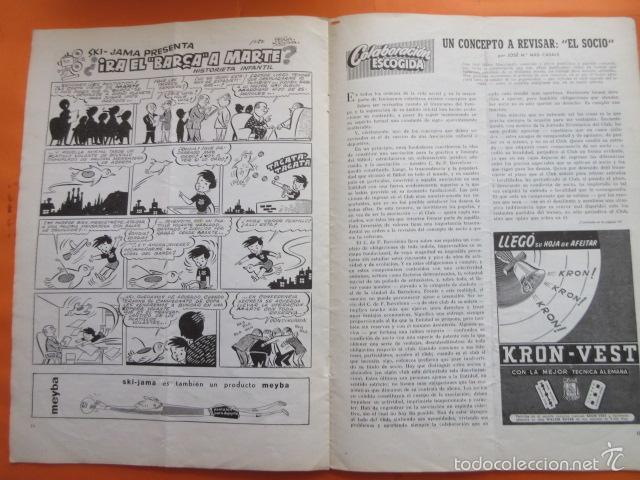 Coleccionismo deportivo: BOLETIN CLUB DE FUTBOL BARCELONA AÑO 1955 Nº 11 MAYO JUNIO - FOTOS NOU CAMP - Foto 3 - 58066233