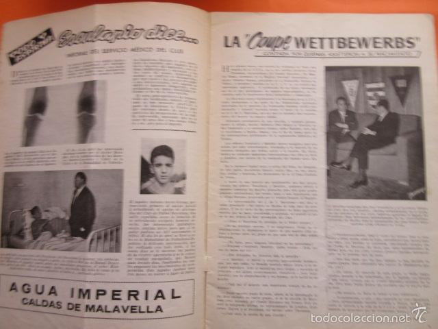 Coleccionismo deportivo: BOLETIN CLUB DE FUTBOL BARCELONA AÑO 1955 Nº 11 MAYO JUNIO - FOTOS NOU CAMP - Foto 5 - 58066233