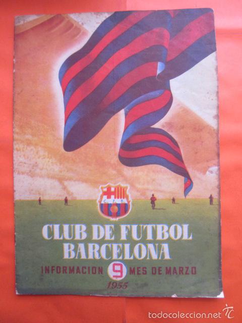 BOLETIN CLUB DE FUTBOL BARCELONA AÑO 1955 Nº 9 MARZO - NOU CAMP (Coleccionismo Deportivo - Revistas y Periódicos - otros Fútbol)