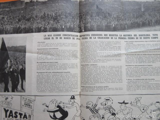 Coleccionismo deportivo: BOLETIN CLUB DE FUTBOL BARCELONA AÑO 1955 Nº 8 FEBRERO - NOU CAMP - Foto 2 - 58066253