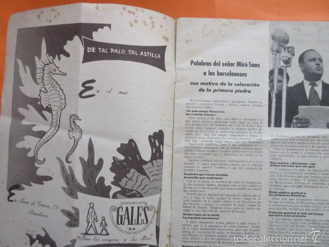 Coleccionismo deportivo: BOLETIN CLUB DE FUTBOL BARCELONA AÑO 1955 Nº 8 FEBRERO - NOU CAMP - Foto 3 - 58066253