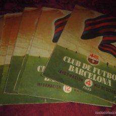 Coleccionismo deportivo: MAGNIFICAS 9 REVISTAS ANTIGUAS CLUB DE FUTBOL BARCELONA. Lote 58222262