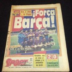 Coleccionismo deportivo: DIARIO SPORT FUTBOL CLUB FC BARCELONA F.C BARÇA CF SEVILLA 7 - MAYO - 1986. Lote 58438426