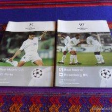 Coleccionismo deportivo: PROGRAMA OFICIAL CHAMPIONS LEAGUE 1997 REAL MADRID F.C. PORTO OPORTO Y ROSENBORG B.K.. Lote 58597158