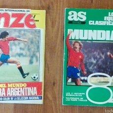 Coleccionismo deportivo: REVISTA ONCE 1978 Y AS MUNDIAL 82.. Lote 58613124