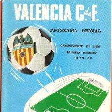 Collezionismo sportivo: PROGRAMA OFICIAL-REVISTA FÚTBOL , VALENCIA CF-ESPAÑOL , CAMPEONATO LIGA 1971/72. Lote 58615593