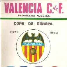 Coleccionismo deportivo: PROGRAMA OFICIAL-REVISTA FÚTBOL , VALENCIA CF-KLUB HAJDUK SPLIT, COPA DE EUROPA, 1971/72. Lote 185772195